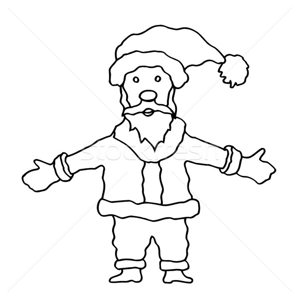 Stock photo: Cartoon Santa Clause
