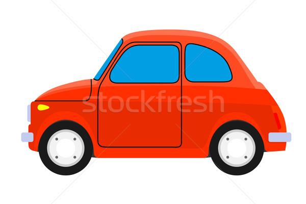 Vermelho carro carro velho isolado esportes acelerar Foto stock © frescomovie