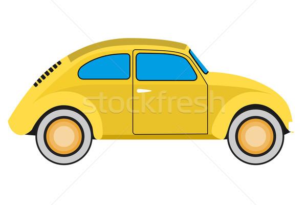 Sarı araba eski araba yalıtılmış spor hızlandırmak Stok fotoğraf © frescomovie