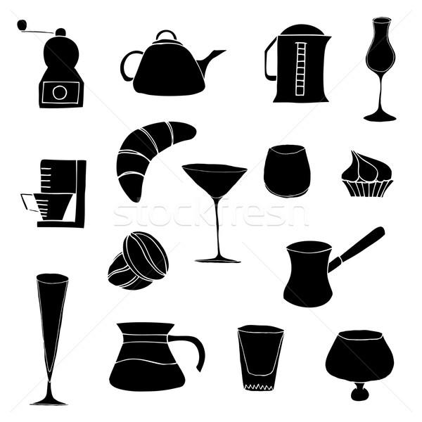 Stockfoto: Objecten · keuken · geïsoleerd · witte · voedsel