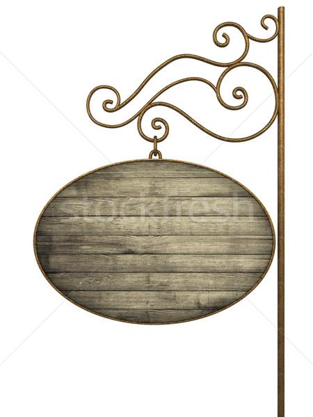 Velho isolado branco 3d render textura parede Foto stock © frescomovie