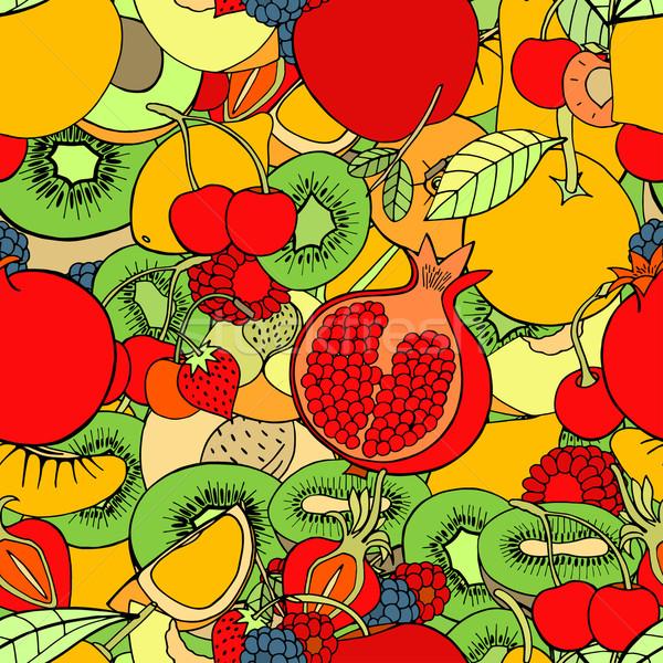 Früchte Set süß Beeren Äpfel Stock foto © frescomovie