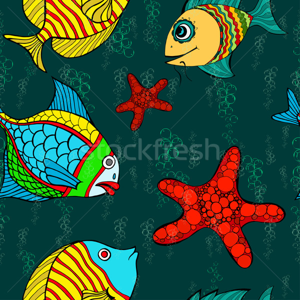 Sem costura peixe belo água projeto fundo Foto stock © frescomovie