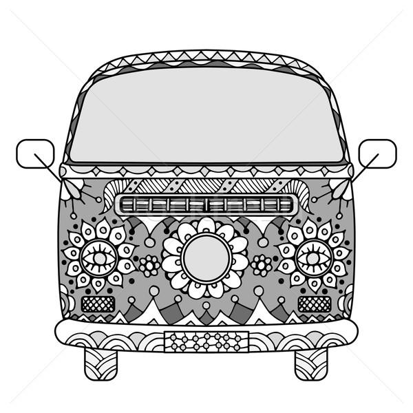 van in zentangle style Stock photo © frescomovie