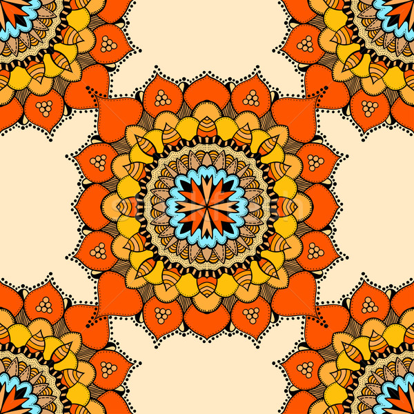 Stock photo: Seamless vector colorful pattern.