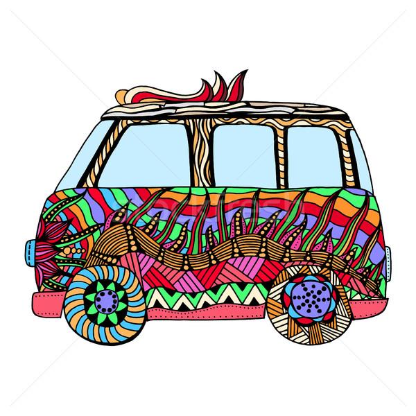 Hippie vintage car a mini van Stock photo © frescomovie