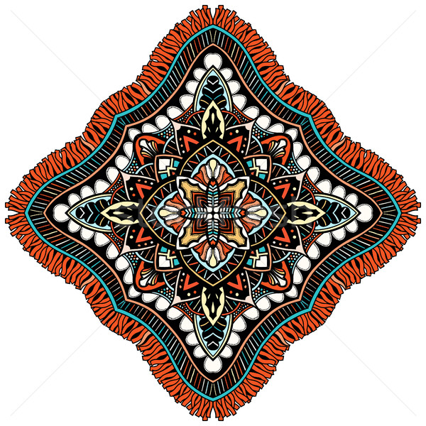 Stockfoto: Ornament · kleur · kaart · mandala · vintage · decoratief
