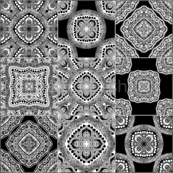 Monocromático geométrico conjunto vetor fundos Foto stock © frescomovie