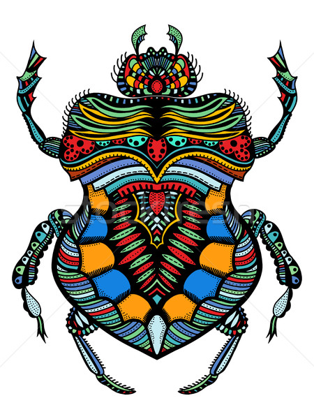 patterned vector bug Stock photo © frescomovie