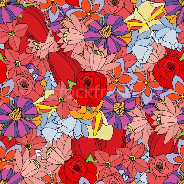 Güzel yaz çok çiçekler Stok fotoğraf © frescomovie