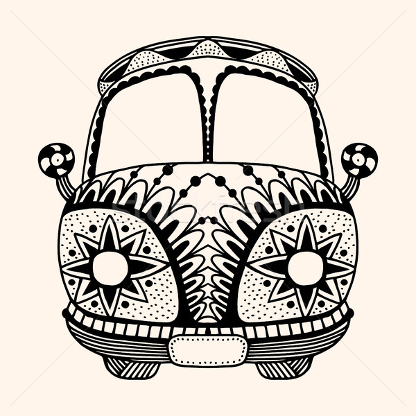 Hippie vintage car a mini van Stock photo © frescomovie