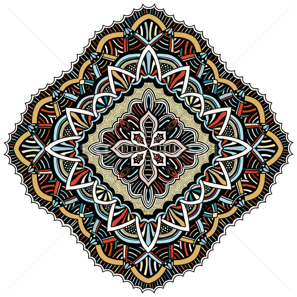 Ornament kleur kaart mandala vintage decoratief Stockfoto © frescomovie