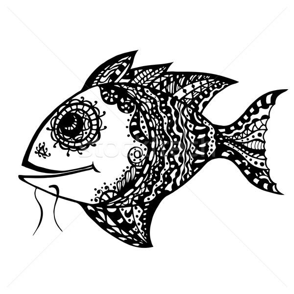 Hand Drawn Fish Stock photo © frescomovie