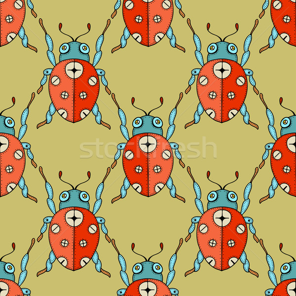 ladybug seamless pattern  Stock photo © frescomovie