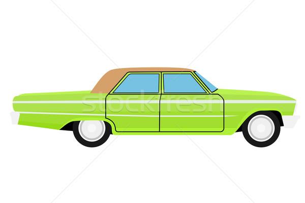 Stary samochód zielone odizolowany ciało powrót czarny Zdjęcia stock © frescomovie