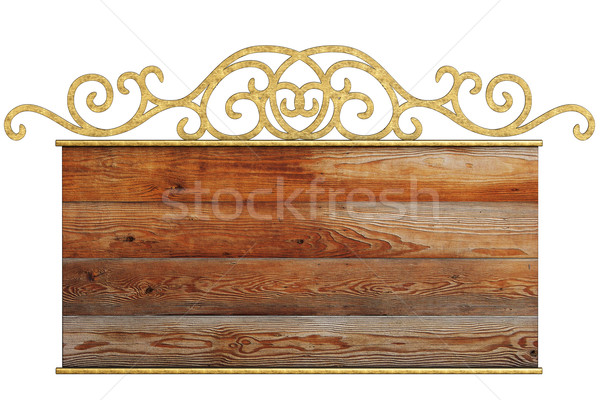 Stock photo: Old signboard.