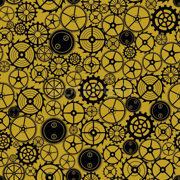 ストックフォト: シームレス · さびた · パターン · 工場 · 抽象的な