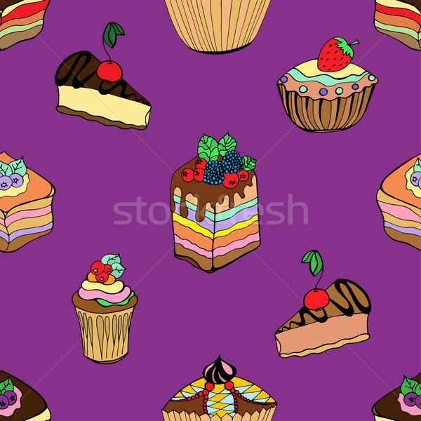 ケーキ デザート セット 異なる ストックフォト © frescomovie