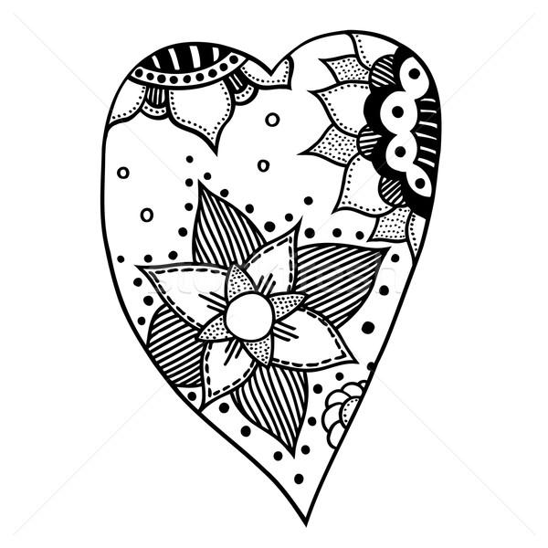 Kalp Stil Kalpler Model Boyama Kitabı Vektör