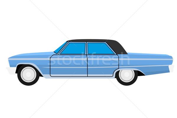 Stary samochód niebieski odizolowany ciało powrót czarny Zdjęcia stock © frescomovie