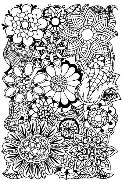 Stock fotó: Virágmintás · kisebbségi · firka · minta · kör · vektor
