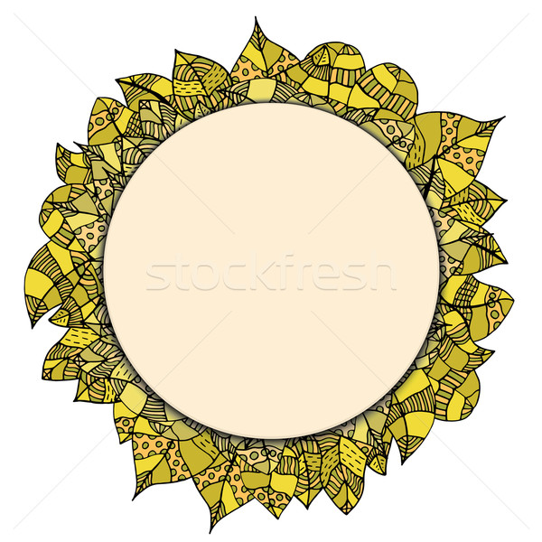 round papper frame on leaves Stock photo © frescomovie