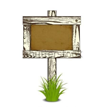 Wooden signpost Stock photo © frescomovie