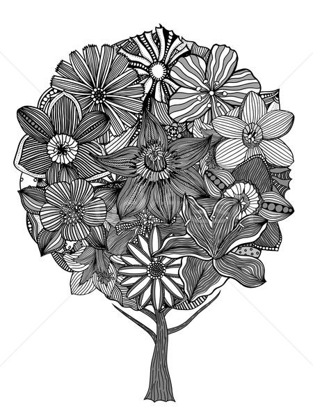 Tree with leaves Stock photo © frescomovie
