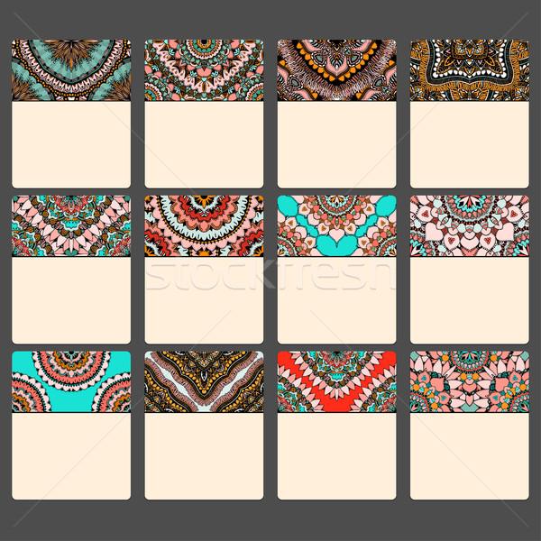 Leer Karten Kalender orientalisch Muster islam Stock foto © frescomovie