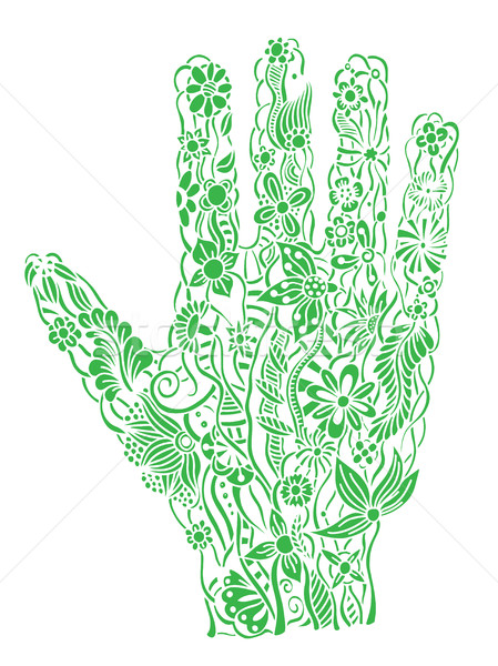 Floral palm, hand drawn Stock photo © frescomovie