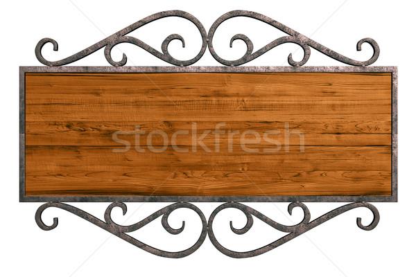 Old signboard Stock photo © frescomovie
