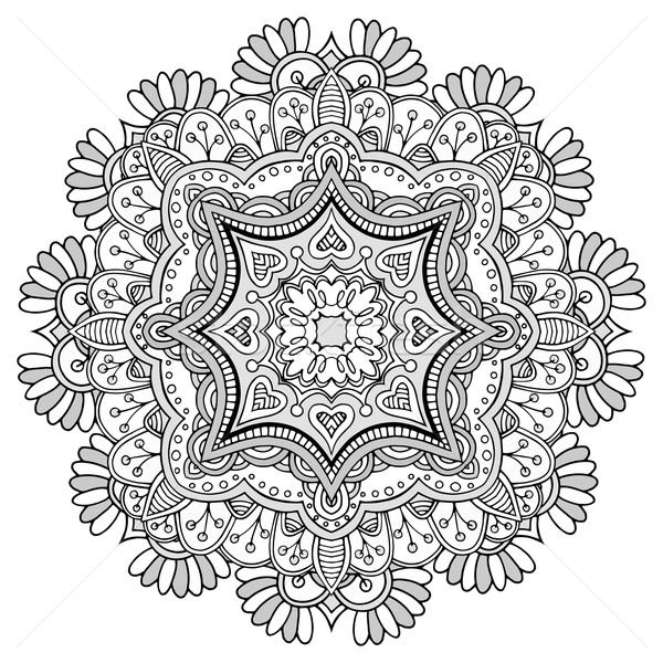 Ornamento pattern mandala design vintage indian Foto d'archivio © frescomovie