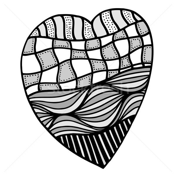 heart in zentangle style Stock photo © frescomovie