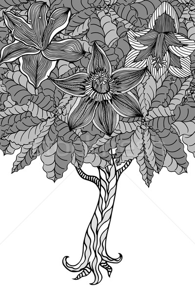 Stock photo: Tree with leaves