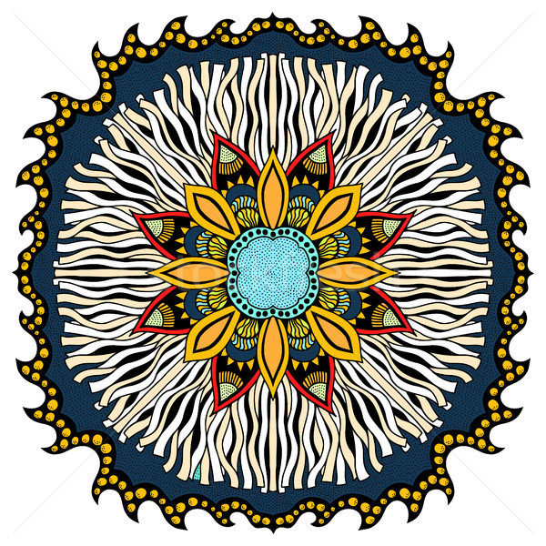 Ornamento colore carta mandala vintage decorativo Foto d'archivio © frescomovie