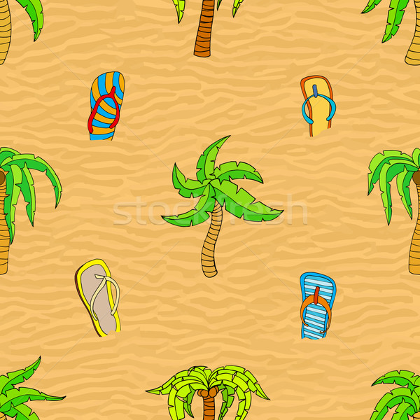Summer related seamless pattern Stock photo © frescomovie