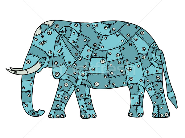 Stock photo: Hand Drawn elephant