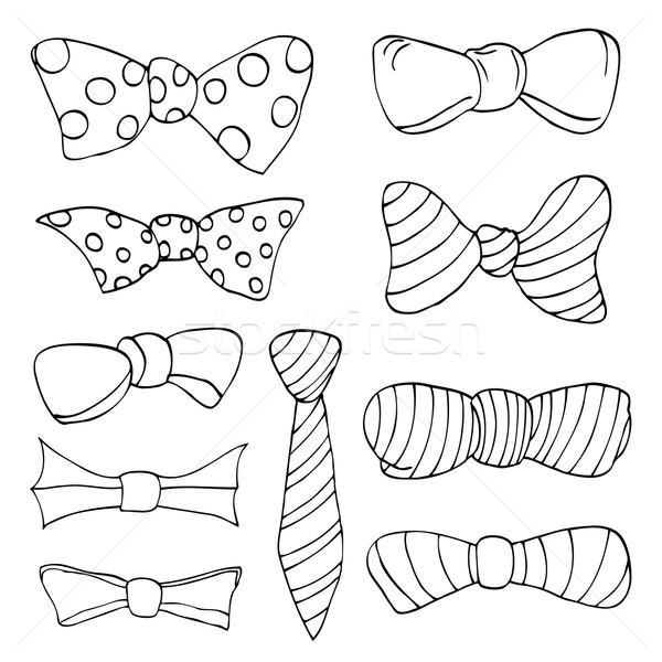 Set of bow Stock photo © frescomovie