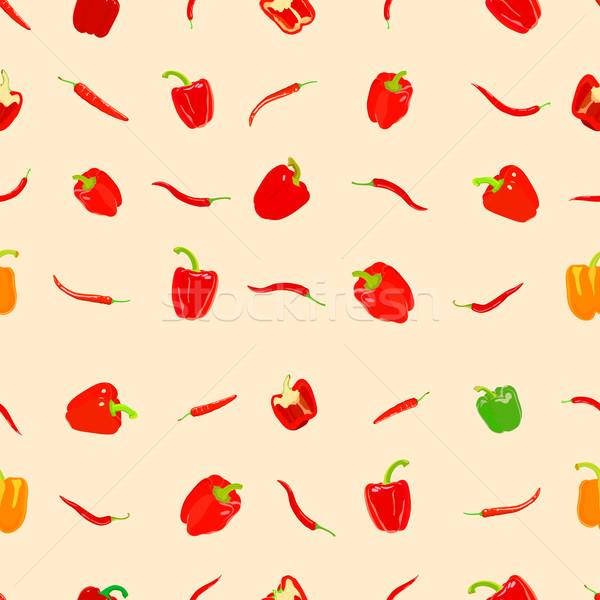 Pepper pattern Stock photo © frescomovie