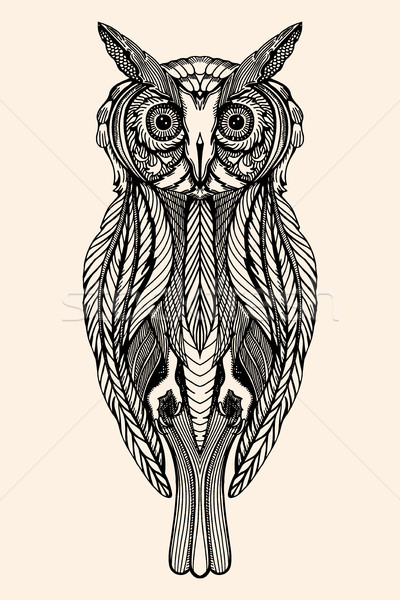 Vector Decorative owl Stock photo © frescomovie
