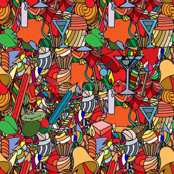 Liefde snoep doodle papier muur Stockfoto © frescomovie