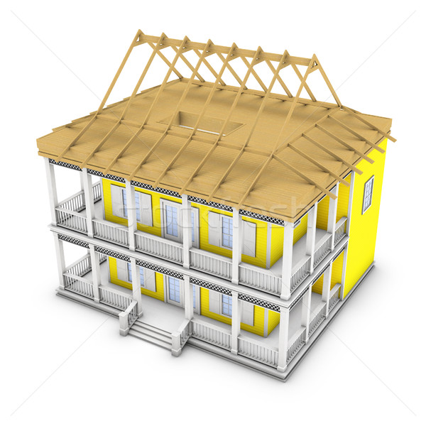 3d Home Stock photo © frescomovie