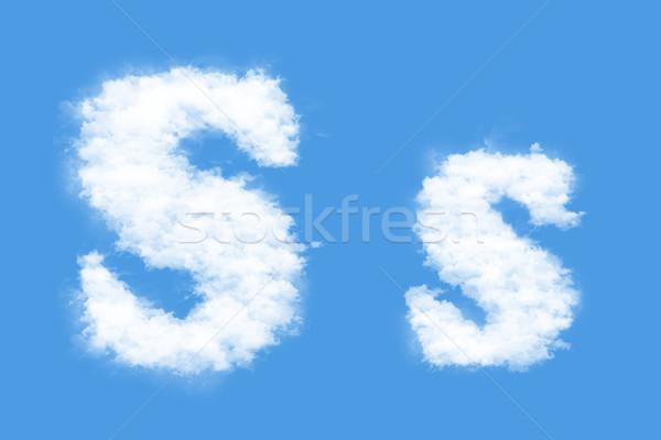 Levél felhők forma égbolt füst tanulás Stock fotó © frescomovie