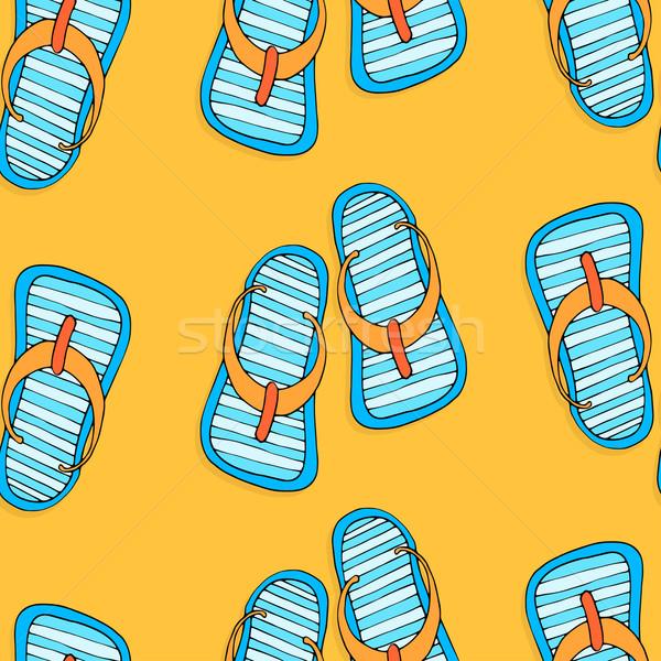 flip-flops background Stock photo © frescomovie