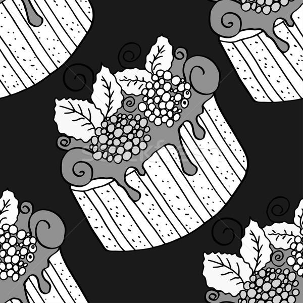 Stockfoto: Monochroom · papier · voedsel