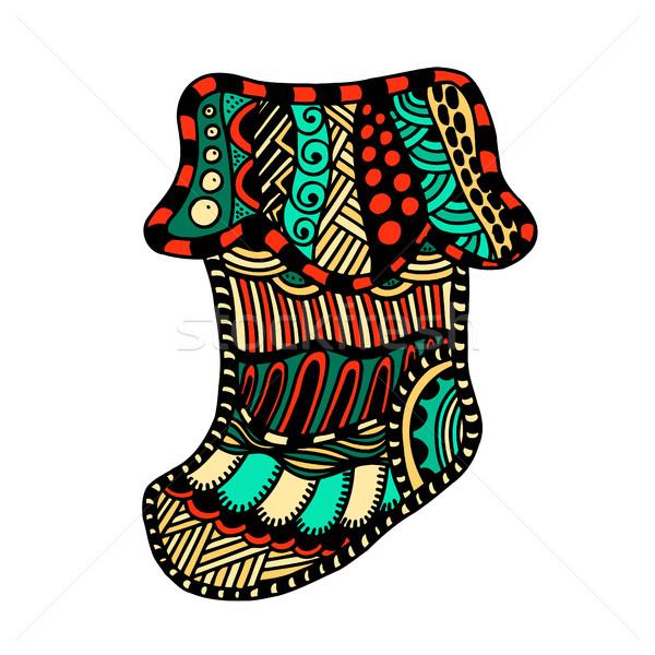 Winter boot zentangle Stock photo © frescomovie