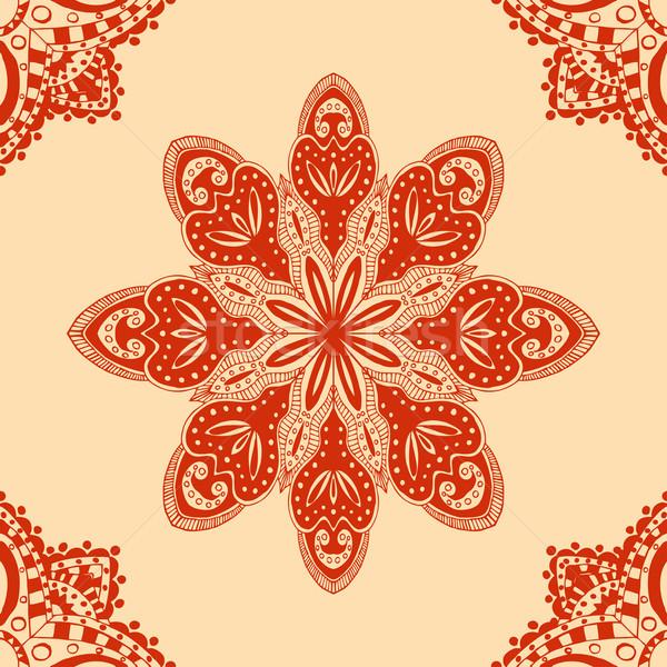 ストックフォト: 赤 · デザイン · オランダ語 · タイル · 繊維