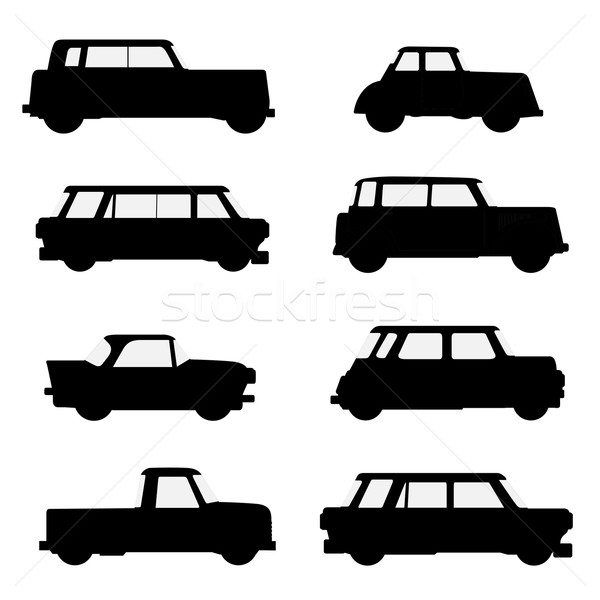 Set of classical cars.  Stock photo © frescomovie