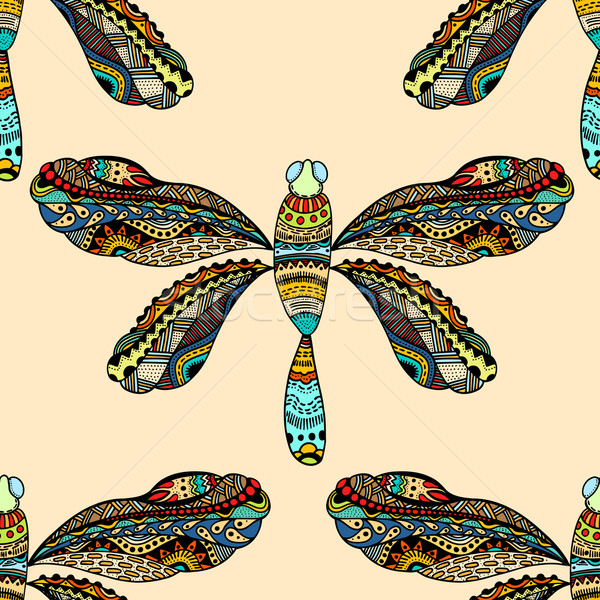 dragonfly seamless pattern Stock photo © frescomovie