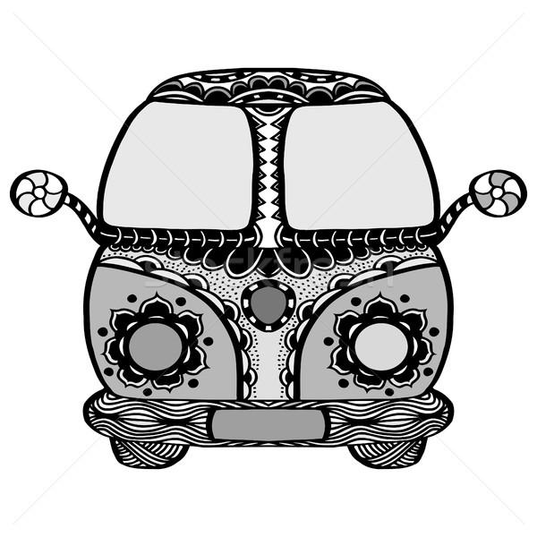 Vintage car a mini van Stock photo © frescomovie
